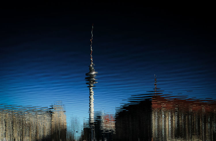 Spiral tower Blue Sky Cloud - Sky Day Flip Nature No People Outdoors Sigma Reflection Sky Tvtower Berlin Alexanderplatz [a:1232] Adapted To The City Urbanphotography Discover Your City By The River Reflection_collection Water Reflections