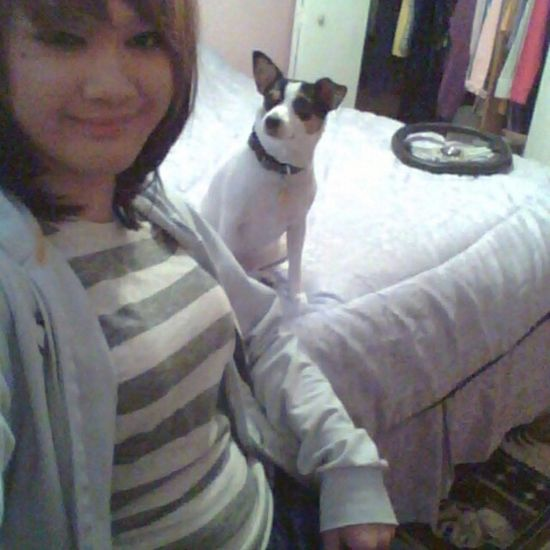 i love this picture lol KAWAII Selfie Smile Cute Bestfriend Doggy Rattie Rat Terrier