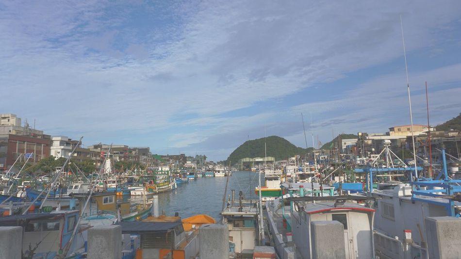 Port Yilan Taiwan Sky Vessel Harbor Port No People Moored Water Transportation Cityscape Day Sea