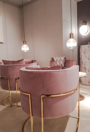 Velvet Armchairs Pastels Powder Interior Design Isaloni Home Showcase Interior