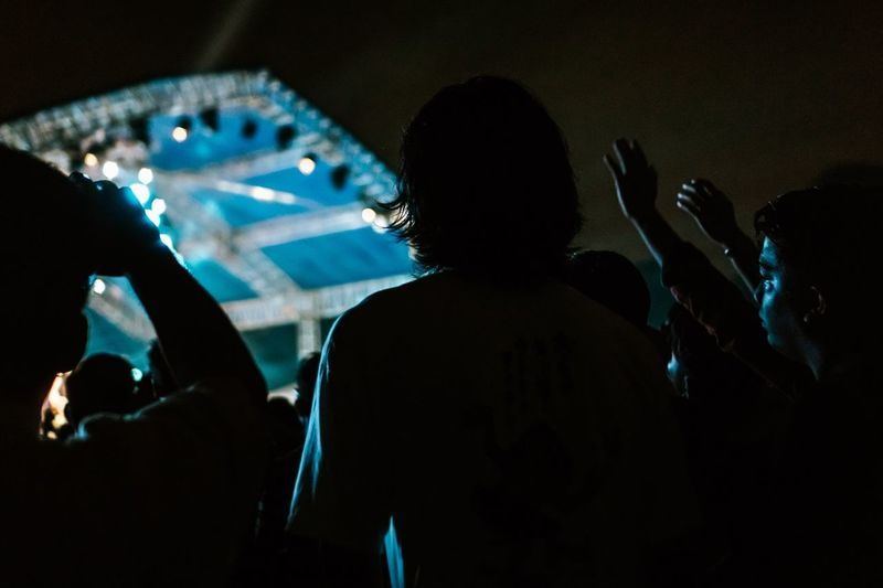 Concert mood Concert Music Performance Event Arts Culture And Entertainment Real People Group Of People Crowd Nightlife Illuminated Large Group Of People Popular Music Concert Festival Music Festival Silhouette