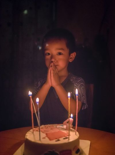 Candle Flame Burning Fire One Person Birthday A New Beginning Birthday Cake Birthday Candles Real People Indoors  Illuminated Childhood Child Fire - Natural Phenomenon Cake Food And Drink Front View Anniversary Lifestyles Event