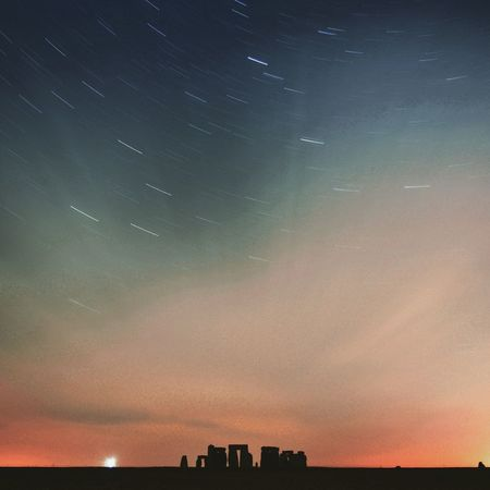 My photograph of Stonehenge with Startrails in the background. Unitedkingdom United Kingdom Stones Stars Hello World Nightphotography Night Lights