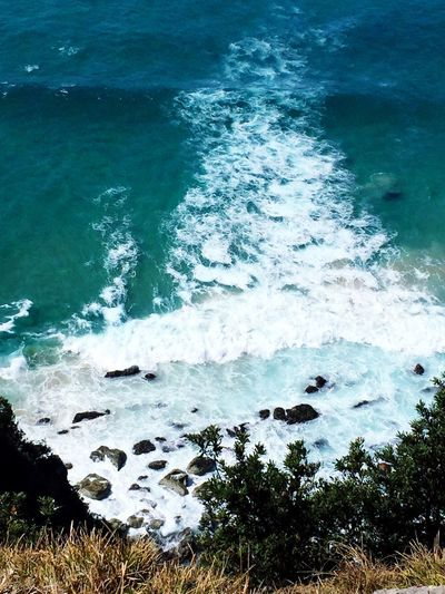 Waves And Rocks Waves, Ocean, Nature Waves Waves Crashing On Rocks Peaceful Waves Crashing Ocean Waves Byron Bay Lighthouse Byron Bay Water Sea Beauty In Nature Beach Nature High Angle View Motion No People Wave Scenics - Nature Tranquility Outdoors Remote Idyllic