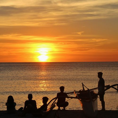 silhouette Sunset Sea Water Silhouette Beach Horizon Over Water Cloud - Sky Leisure Activity Real People Outdoors People Men Sky Nature Shore Shoreline San Antonio Zambales Tourism Tranquility Nagsasa Cove Zambales Nagsasa Cove Zambales Philippines Beauty In Nature Scenics