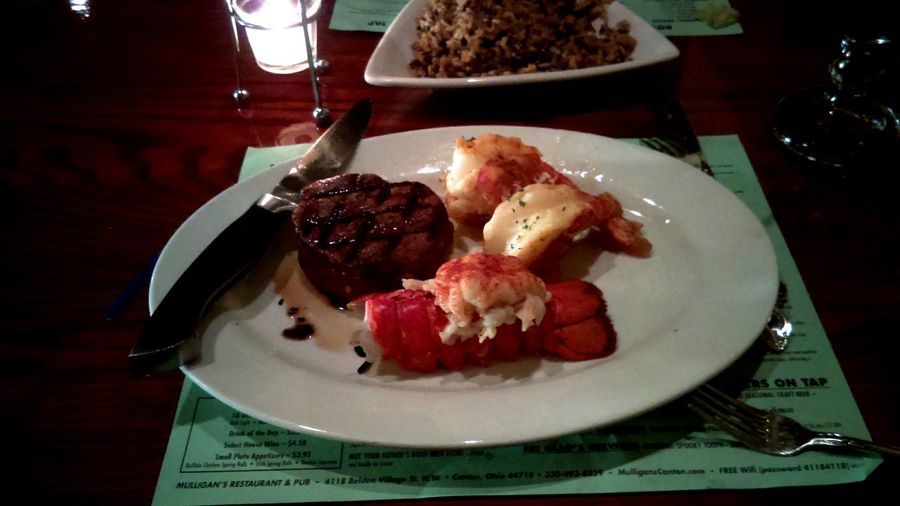 Food Shrimp Jumbo Lobster Steak Celebration Togetherness yum Plate Ready-to-eat
