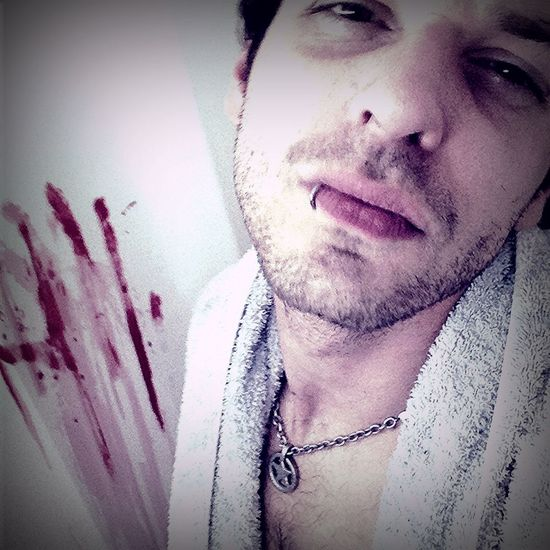 Just Took A Shower .... Self Portrait My Creepy World there foranother Night Of The Livin Baseheadz