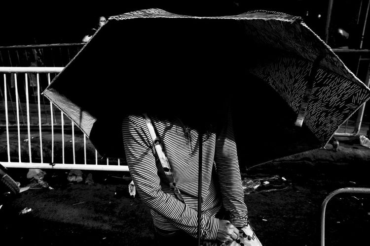 Fujifilm X-Pro2 XF18mmF2R. July 2016. Street Photography Eyeem Philippines Philippines Fujifilm X-pro2 XF18mmF2.0 Light And Shadow Cagayan De Oro City Fujifilm_xseries Xf18mm Monochrome Shadows Umbrella Monochrome Photography The Street Photographer - 2017 EyeEm Awards