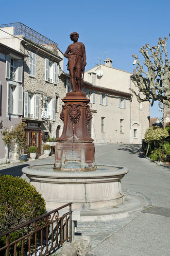 Ancient Civilization Architecture Art Art And Craft Building Exterior Built Structure Column Creativity Culture France Historic History Human Representation Main Square Mougins Sculpture Square Statue
