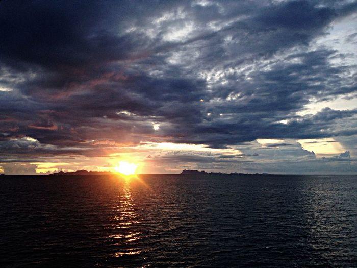 Sun Set Cloud Sun Sea Koh Samui Thailand