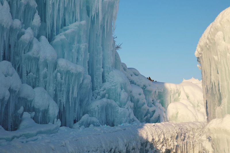 Ice Sculpture Snow Cold Temperature Winter Beauty In Nature Nature Environment Scenics - Nature Frozen Tranquil Scene Panoramic