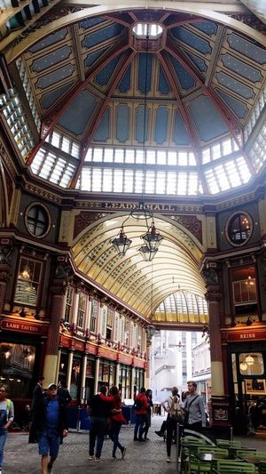 Leadenhall Harry Potter Winkelgasse Architecture Travel Destinations Indoors  Built Structure History Dome Women People Adult Day Adults Only