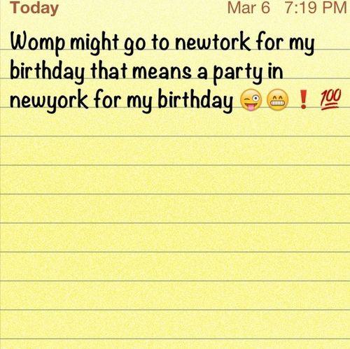 Planing My 18th Birthday