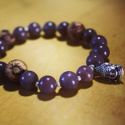 Buddha Purple Bracelet Yoga