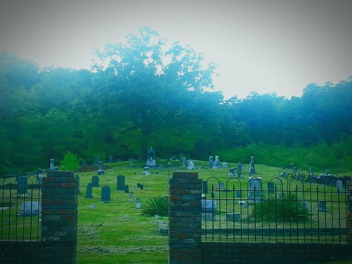 Historical Landmark Cemetery Green Headstones Confederate Soldiers Long Gone  Memorial Dead And Gone