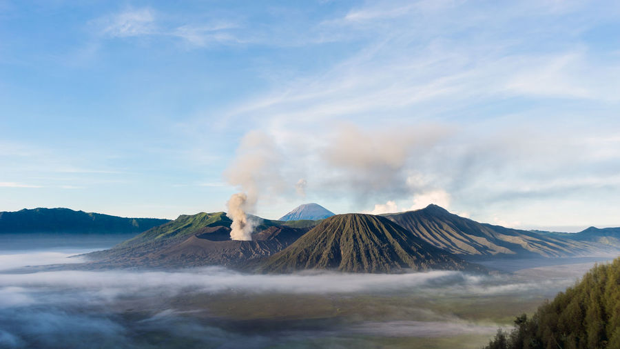 Scenic View Of Mount Bromo Against Sky