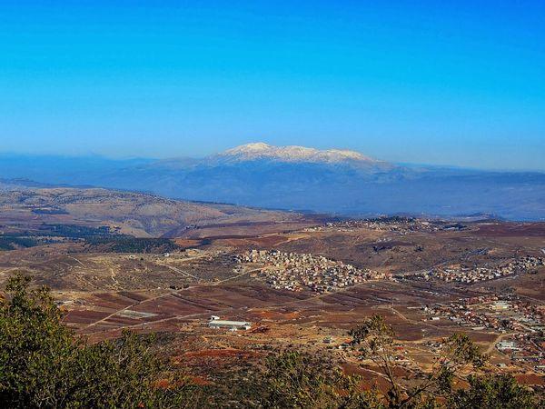 Observation towards Mount Hermon Landscape Scenics Sky Mountain Snowcapped Mountain