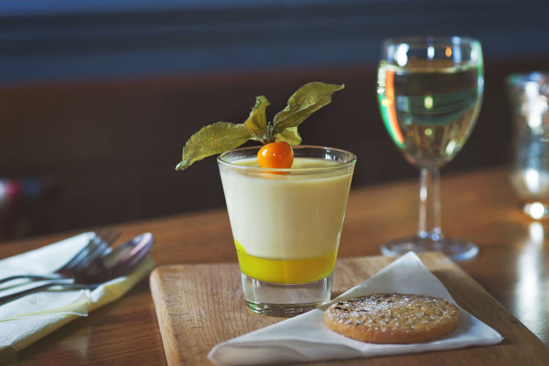 Real lemon dessert Dessert Real Food Alcohol Close-up Cocktail Day Drink Drinking Glass Focus On Foreground Food Food And Drink Fresh Food Freshness Fruit Garnish Healthy Eating Indoors  No People Orange Juice  Plate Ready-to-eat Refreshment Restaurant SLICE Table