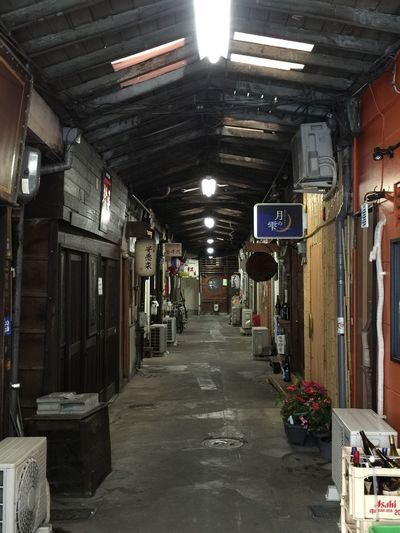 Absence Alley Architectural Column Architecture Building Built Structure Column Corridor Day Diminishing Perspective Electric Lamp Empty Illuminated In A Row Interior Japan Japan Photography Japanese  Lighting Equipment Long Narrow No People Old Japanese Style The Way Forward Vanishing Point