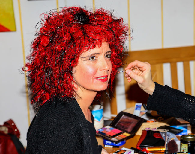 Portrait of beautiful young woman using smart phone