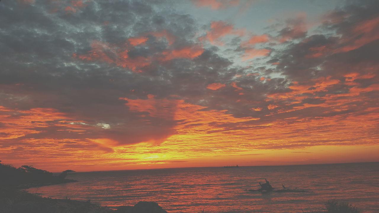 sunset, sea, water, beauty in nature, sky, scenics, nature, tranquility, beach, horizon over water, tranquil scene, idyllic, horizon, outdoors, no people