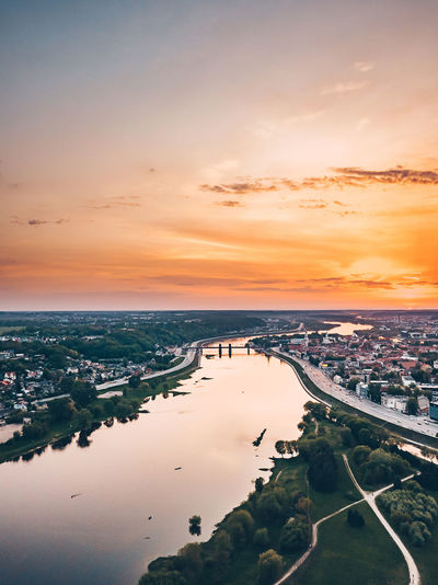Orange sunset Aerial Shot Drone  Aerial Aerial View Architecture Bay Beach Beauty In Nature Building Exterior City Cityscape Cloud - Sky Europe Horizon Horizon Over Water Land Mavic Mavic Pro Nature No People Outdoors Scenics - Nature Sky Sunset Transportation Water