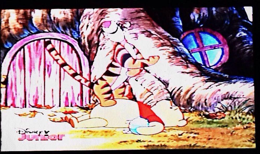 Watching Winnie The Pooh  & Tigger :)