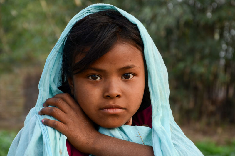 Santal Girl Portrait Of A Girl Rural Life Rural Photography
