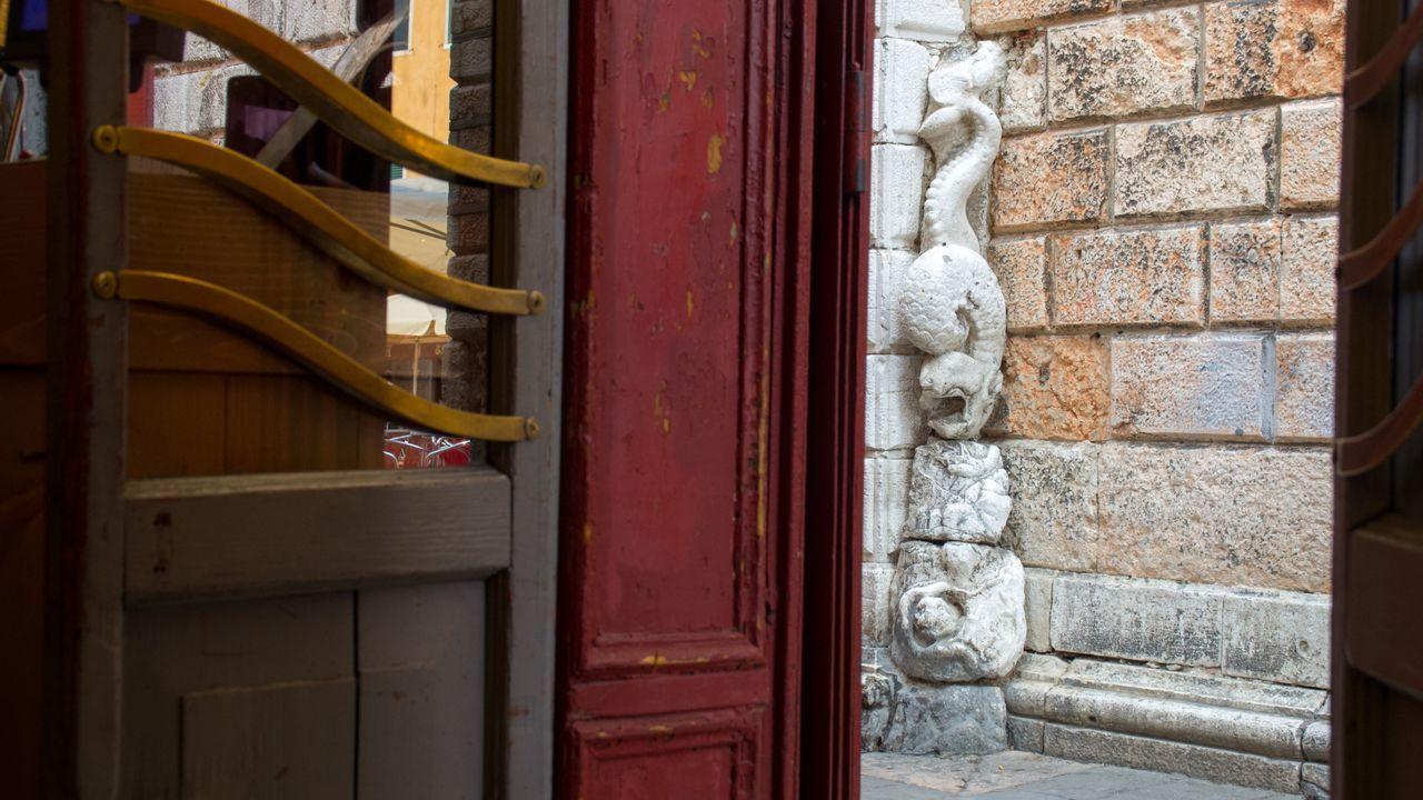 Sculpture By Door