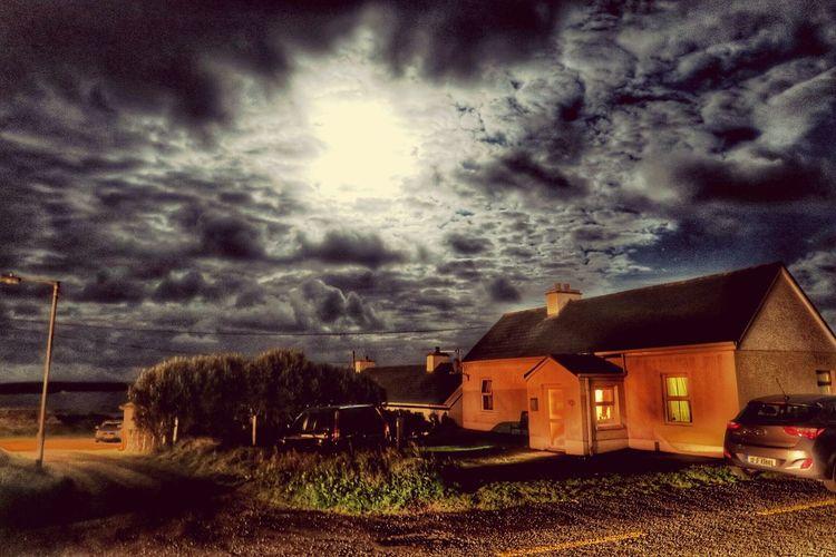 Moon over Dooagh Achill Achill Island Mayo County Mayo G7x Ireland Moonlight Atlantic Ocean