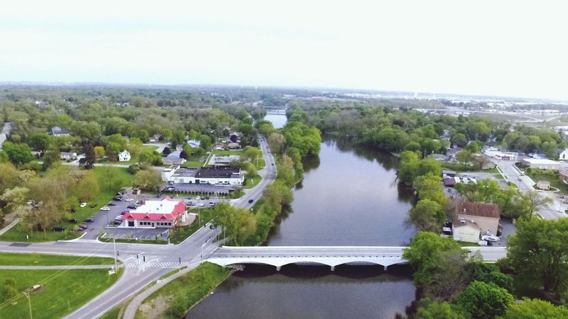 Fix River @ Montgomery, IL The Great Outdoors - 2016 EyeEm Awards A Bird's Eye View The Fox River At Montgomery, Illinois Fox River