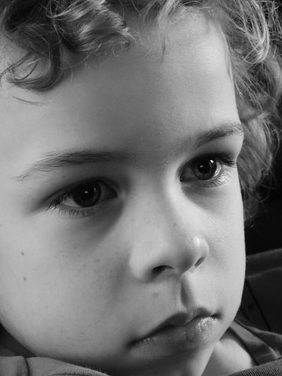 Blackandwhite Boy Childhood Children Only Close-up Human Face Innocence Portrait