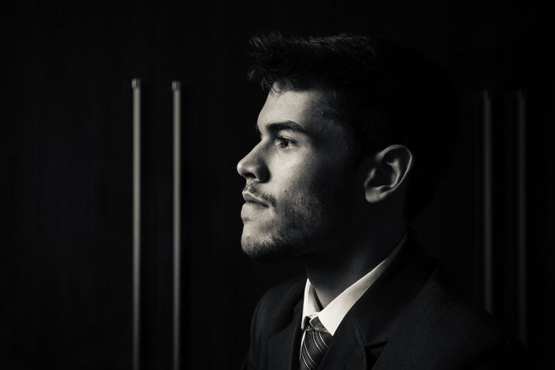 My brother Adult Adults Only Beard Black And White Portrait Black Background Businessman Close-up Contemplation Dark Human Body Part Men One Man Only One Person One Young Man Only Only Men People Portrait Portrait Photography Young Adult Uniqueness