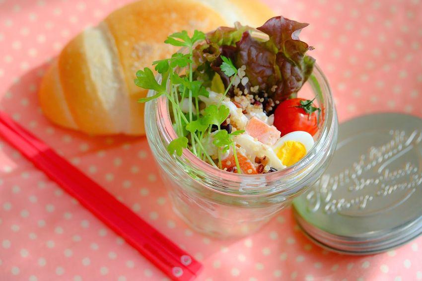 お昼ごぱん …おべんと Food Healthy Eating Food And Drink Lunch Time! Salad Bread Enjoying Life Enjoy A Meal Freshness Bowl Vegetable Ready-to-eat From My Point Of View My stomach is so small 👧🏼🍴💚