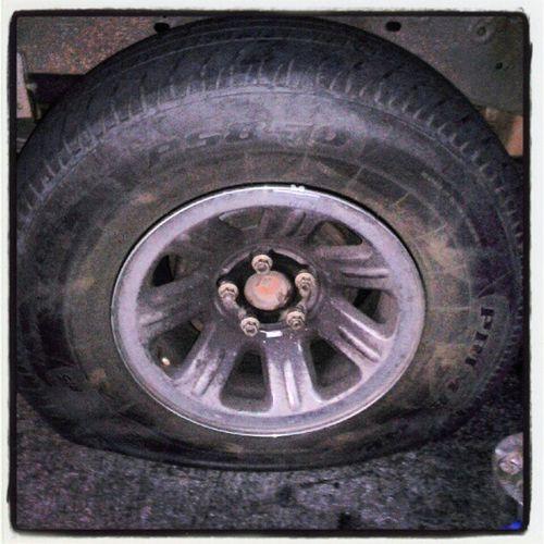 Fuck you, flat tire! Fuckmylife Flattireproblems