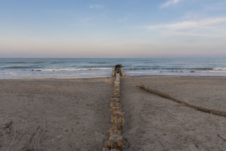 Cervia, Italy, view of the Adriatic coast, sea Beach Beauty In Nature Day Full Length Horizon Horizon Over Water Land Nature Outdoors People Rear View Sand Scenics - Nature Sea Sky Standing Tranquil Scene Tranquility Water