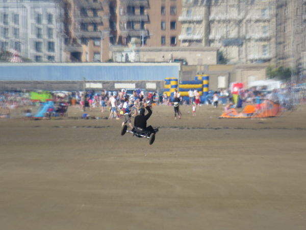 Practicing Outdoors Racing Expectation Of Colours Abound Shore Taking Photos Weston-super-mare Somerset England Watching And Waiting Camera Ready Leisure Activity Kite Buggy Airborne All The Way Beach Beachphotography Summer Enjoyment Expect The Unexpected  Mid-air Waterfront