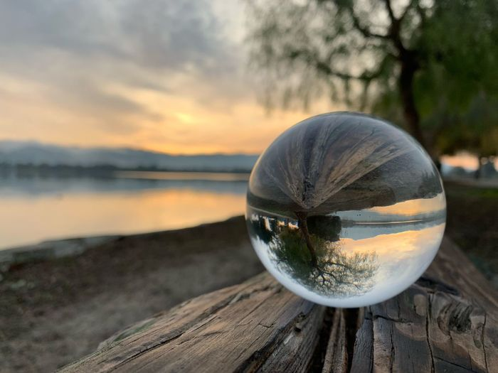 Sunrise on the Lake Morning Sunrise Lake Elizabeth Fremont Lensball Sphere Sky