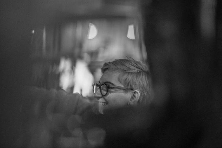 Zhenya Nophotoshop Photoblackandwhite Photo EyeEm Selects One Person Indoors  Eyeglasses  Focus On Foreground Close-up People Day First Eyeem Photo