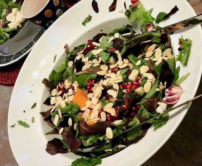 Plate Food Food And Drink Freshness Salad Serving Size Healthy Eating High Angle View Indoors  No People Table Ready-to-eat Leaf Close-up Bowl Green Color Flower Day L. Jeffrey Moore