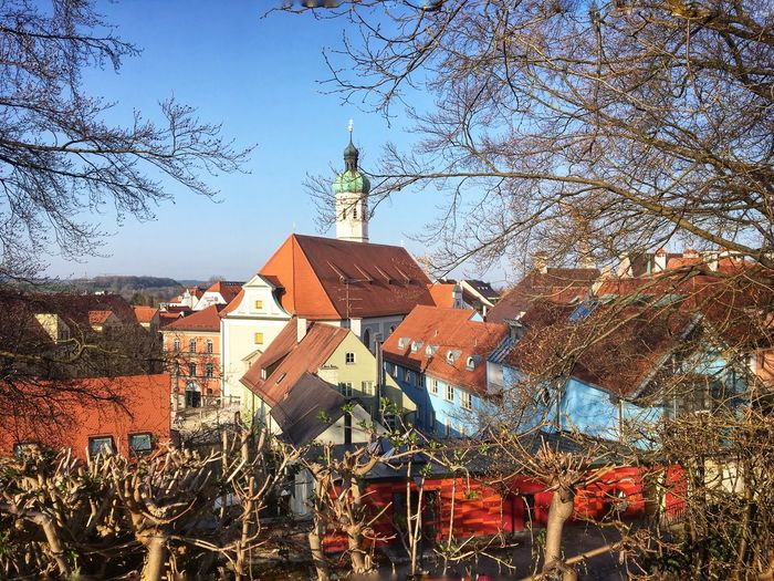 Old Town Dachau View From The Top From Where I Stand Built Structure Architecture Building Exterior Tree Building Sky Nature Outdoors