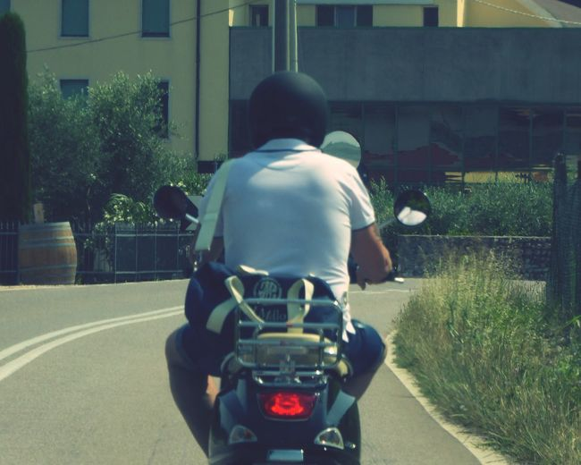 Italy🇮🇹 Motorcycle Man On Motorbike Rear View Real People One Person Lifestyles Men Leisure Activity Outdoors Building Exterior Full Length Day Summer ☀