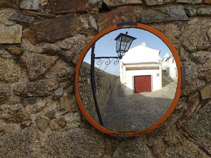 carrefour Door Lamp Street Light Mirror Road Road Crossing Reflection Old Town Narrow Narrow Street Street Communication Architecture Close-up Built Structure Building Exterior Street Scene Side-view Mirror Roadways High Street Empty Road Historic Closed Door