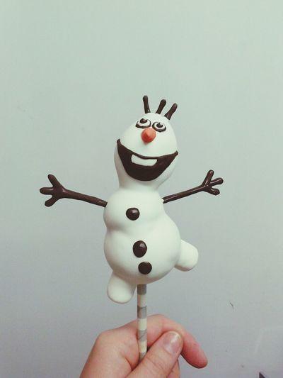 Olaf cake pop! Food Art At Work