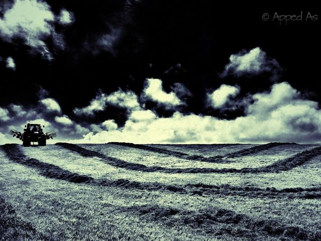 Turning Hay in Hawera. NEM Landscapes Landscape New Zealand