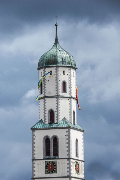 High noon Biberach Biberach An Der Riß Church St. Martin Architecture Bell Tower Building Exterior Built Structure Clock Tower Cloud - Sky Cross Day Dome High Noon History Low Angle View Nature No People Outdoors Place Of Worship Religion Sky Spirituality Tower Travel Destinations
