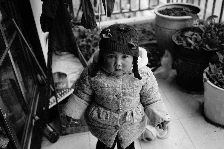 Little girl The Week on EyeEm Monochrome Blackandwhite Little Girl Childhood Real People Girls Looking At Camera Outdoors Knit Hat Day Casual Clothing Lifestyles Cute Portrait Warm Clothing Close-up People Press For Progress The Portraitist - 2018 EyeEm Awards The Portraitist - 2018 EyeEm Awards