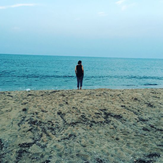 she saw sea Sea Horizon Over Water Standing Relaxation First Eyeem Photo