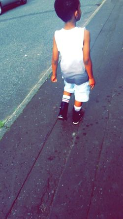 Relaxing Street Fashion Today's Hot Look littlest bro rocking those socks