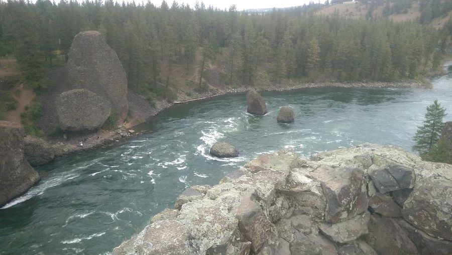 Beauty In Nature Blue Bowl And Pittcher Day Flowing Flowing Water Landscape Nature Non Urban Scene Non-urban Scene Outdoors Overlook Rapids Remote River Riverside State Park Rock Rock - Object Rock Formation Scenics Spokane Spokane River Stone Travel Destinations Water